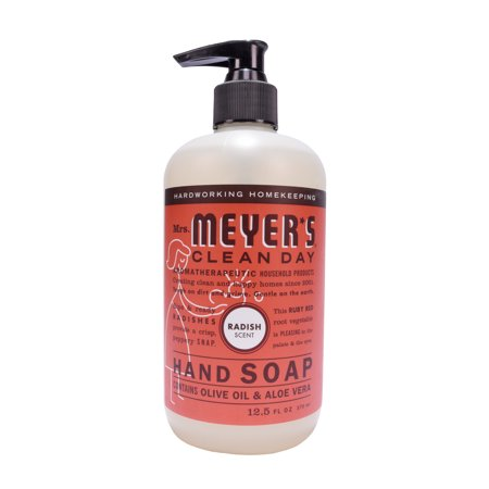 (3 Pack) Mrs. Meyer's Clean Day Liquid Hand Soap, Radish, 12.5 Oz