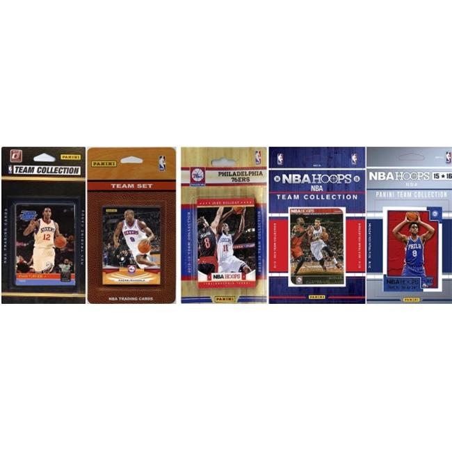 C&I Collectables NBA Philadelphia 76ers 5 Different Licensed Trading Card Team Sets