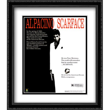 Scarface 28x32 Double Matted Large Black Ornate Framed Movie Poster ...