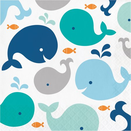 Whale Party Supplies (Blue Baby Whale Napkins, 16)