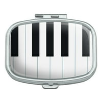 Piano Keys Keyboard Pianist Music Rectangle Pill Case Trinket Gift Box