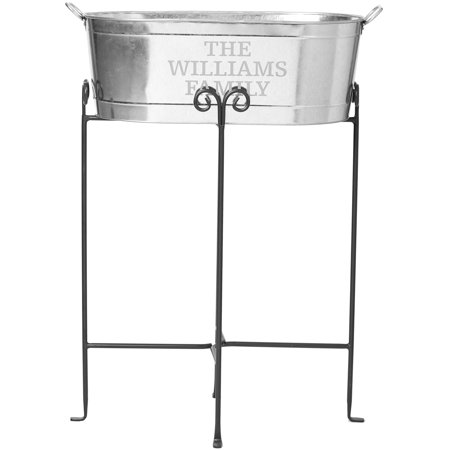 Galvanized Beverage Tub - Family Name (Ncaa Beverage Tub)