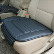 Breathable Car Interior Seat Cover Cushion Pad Mat for Auto Supplies Office Chair with PU Leather Bamboo Charcoal (Black)