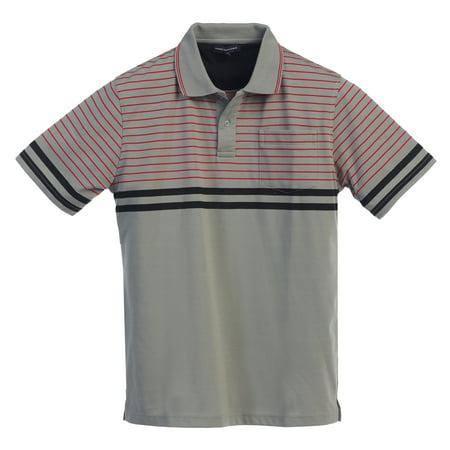Mens Striped Short Sleeve Polo Shirt