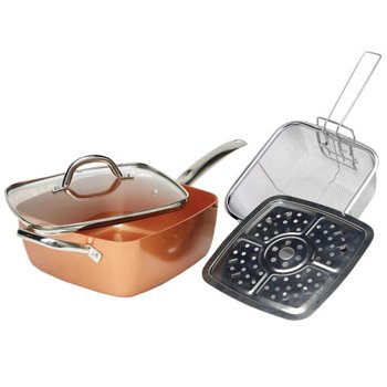 Tayama TCSP-10 Induction Copper Square Pan
