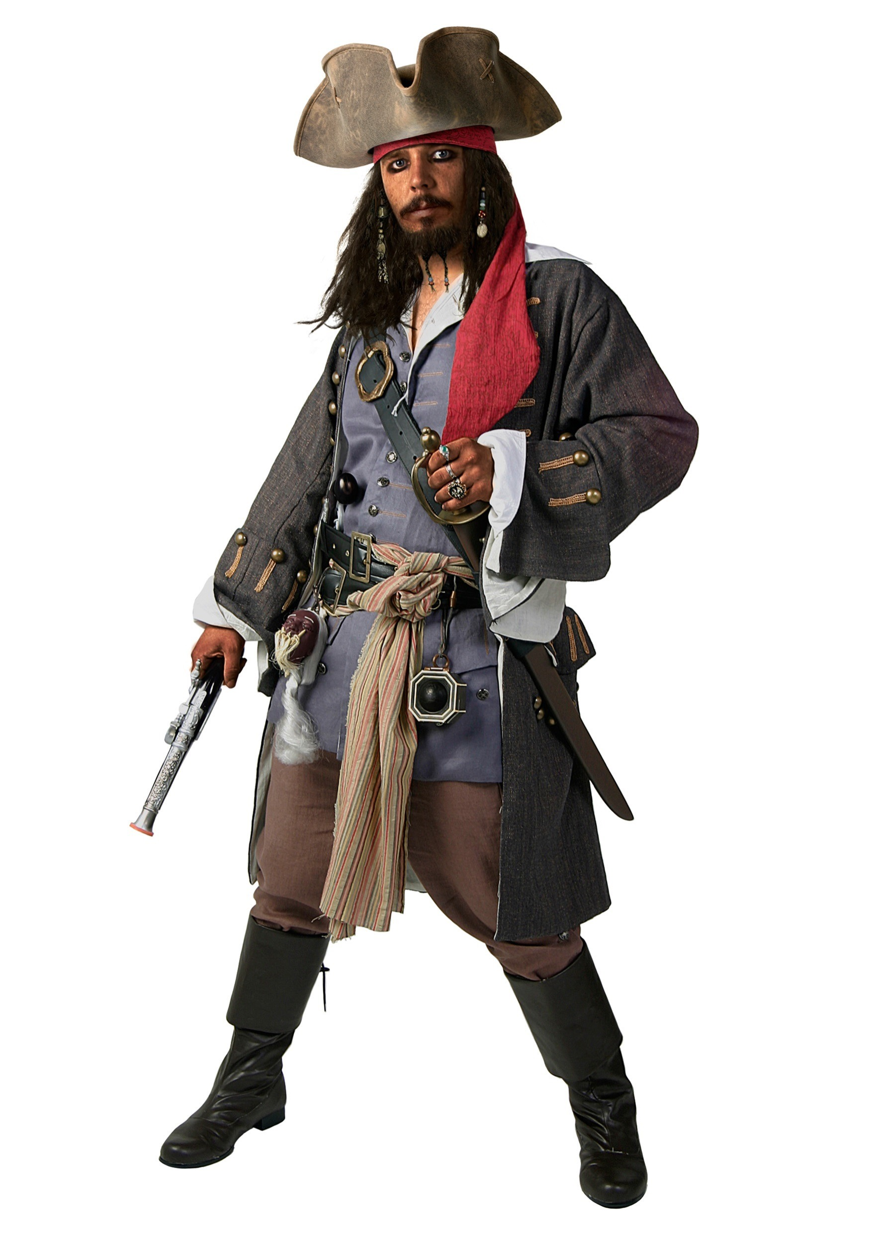 Realistic Caribbean Pirate Costume by