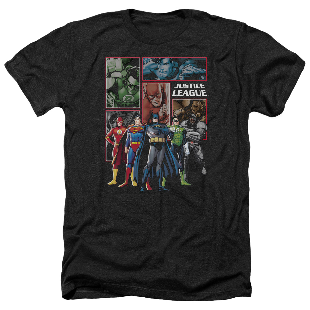 Jla New Jla Panels Mens Heather Shirt