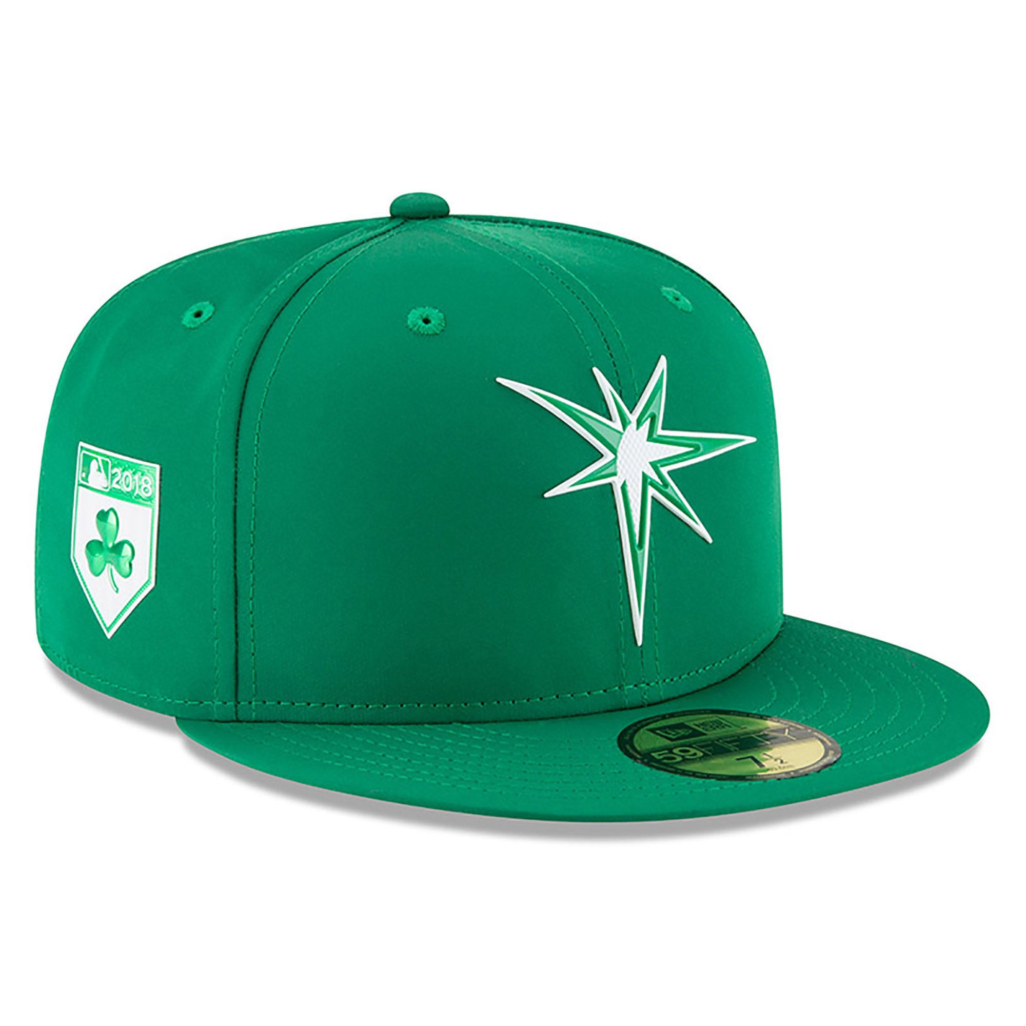 Tampa Bay Rays New Era 2018 St. Patrick's Day Prolight 59FIFTY Performance Fitted Hat - Green