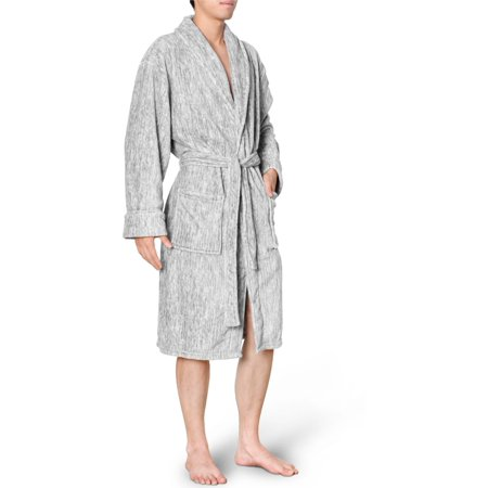 Premium Men's Fleece Robe Bathrobe by