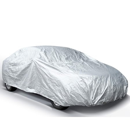 Ohuhu Car Covers for Sedan Outdoor, 2019 Upgrade Car Cover Windproof Dustproof Scratch Resistant Universal Full Size Dual Layer Auto Vehicle Cover for Sedan L (Best Sedans For Snow 2019)