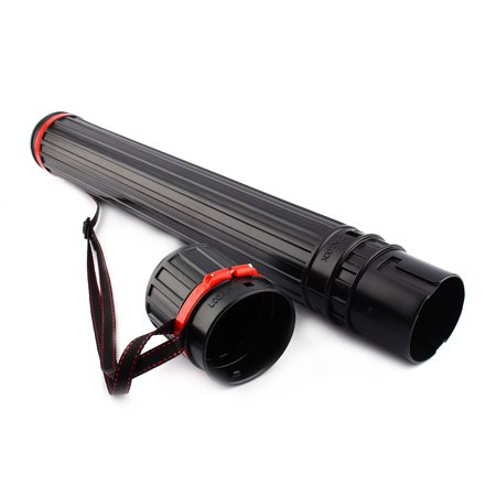Adjustable Archery Arrow Case Telescopic Arrow Carrier Tube Hunting Bag Pvc Shoulder Arrow Back Quiver With Strap