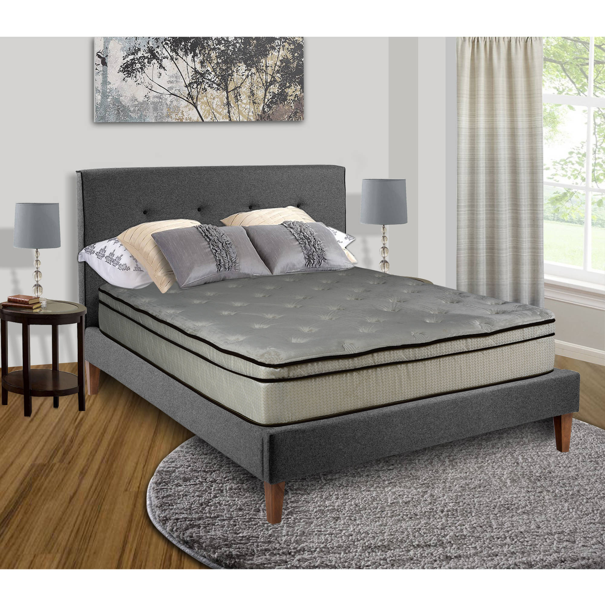 "Continental Sleep, Victoria 11"" Euro Top Innerspring Mattress, Cozy Teddy Bear Fabric, Twin Sizes"