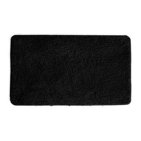 Mary Bathroom Rug Luxury Soft Plush Gy Thick Fluffy Microfiber Bath Mat Non Slip Rubber Back Floor Water Absorbent 18x30 Inch Black
