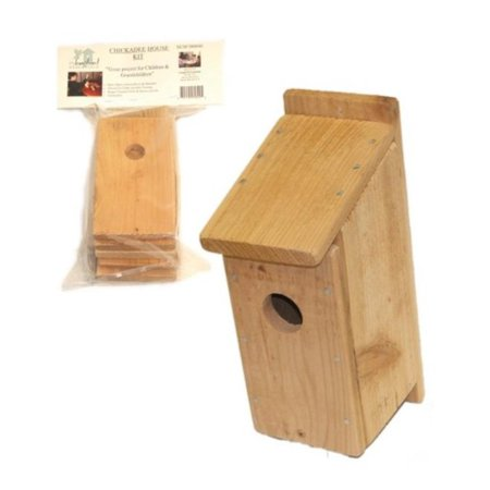 DIY Build A Birdhouse Chickadee Kit. Made of Cedar Wood. Great Project for Kids, Your best choice for your pet. By Songbird