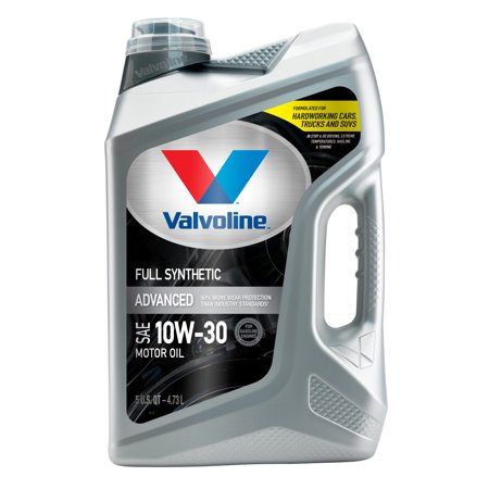 Valvoline Advanced Full Synthetic SAE 10W-30 Motor Oil, Easy-Pour 5 Quart
