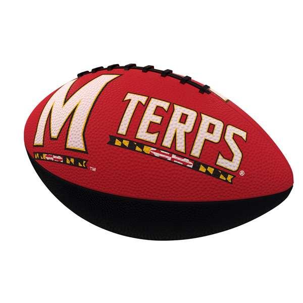 Maryland Combo Logo Junior-Size Rubber Football