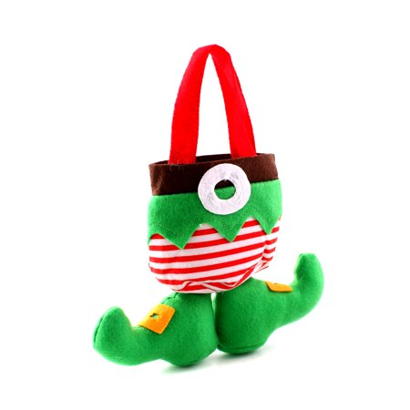 Christmas Holiday Elf Pants Socks Spirit Boots Candy Gift Treat Bags Stockings