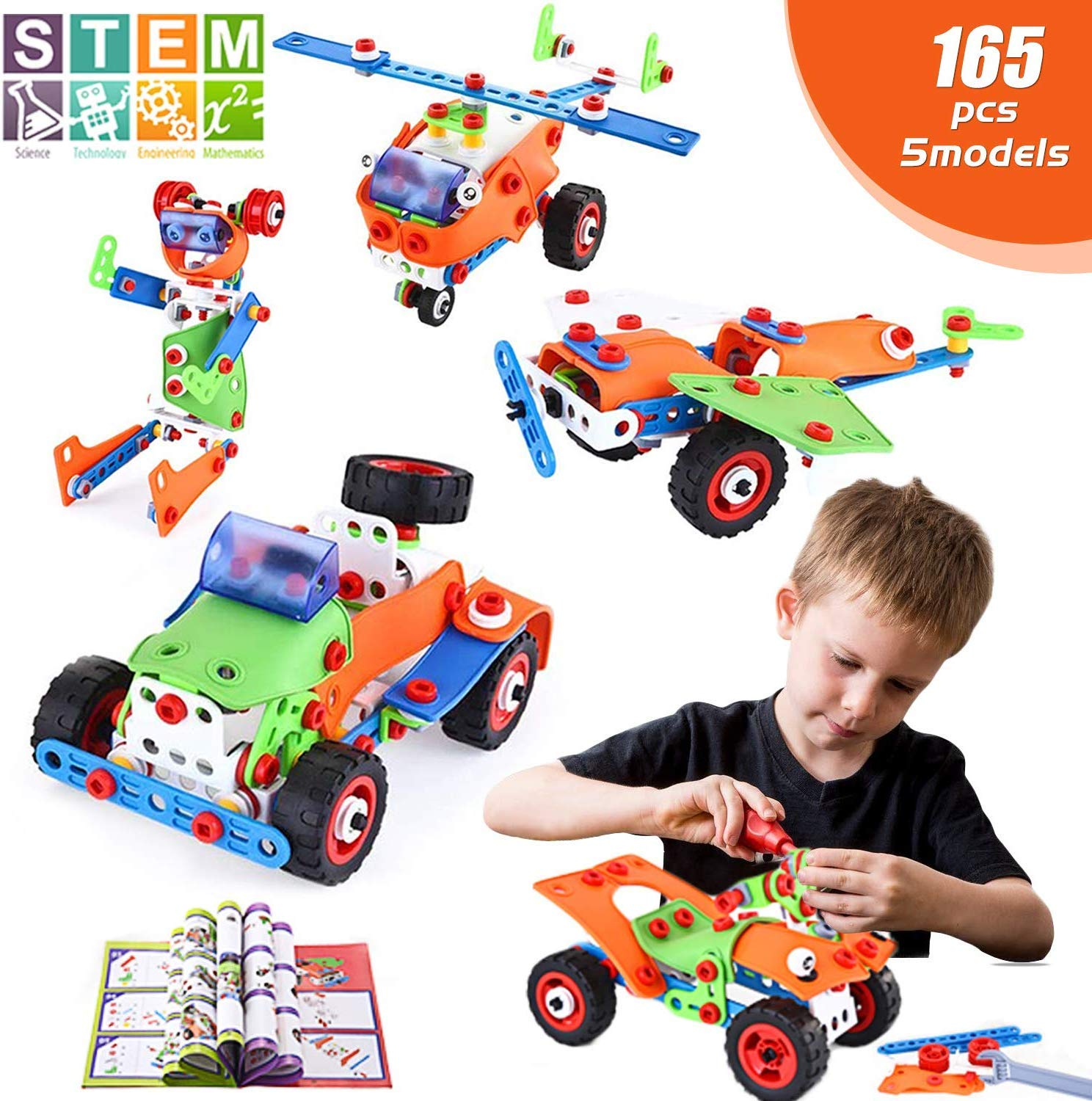 STEM Toys, 165 Piece Learning Toys, Educational ...