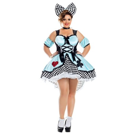 Flirtatious Alice Plus Size Women's Costume (Dark Alice Costume Plus Size)