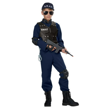 Junior Swat Child's Costume - Halloween Nz