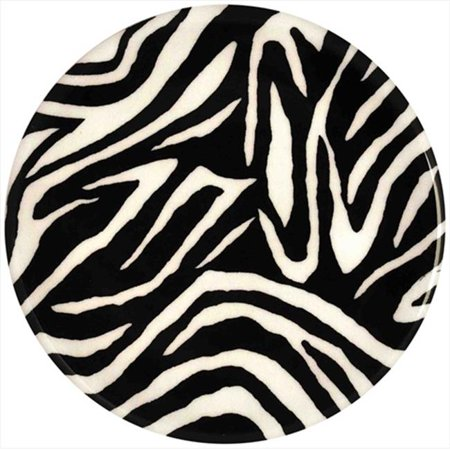 Andreas TRT-150 10 in. Zebra Round Silicone Trivet - Pack of 3