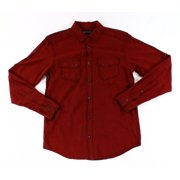 INC NEW Red Black Mens Size Small S Grid Printed Button Down Shirt