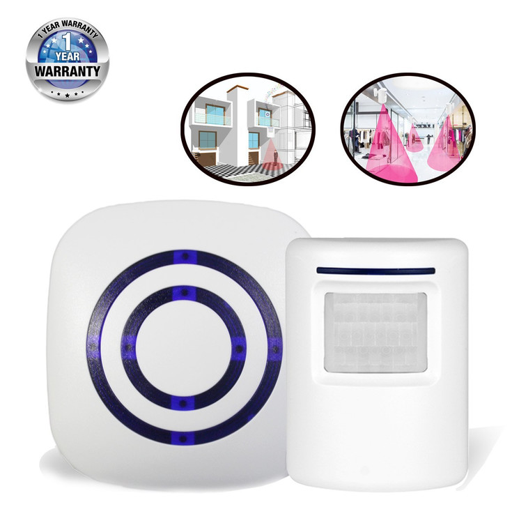 Bangde Home Security Alarm and Wireless Welcome Alert Door Bell Infrared Motion Sensor Alarm Chime  sc 1 st  Walmart.com & Driveway Alarms