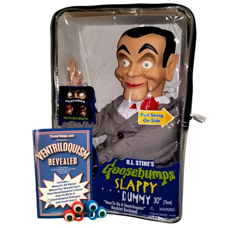 Slappy from Goosebumps Ventriloquist Dummy Doll (Non Glowing Eyes) Bonus Bundle