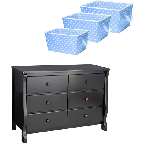 Delta Children 6 Drawer Dresser with BONUS Storage Set