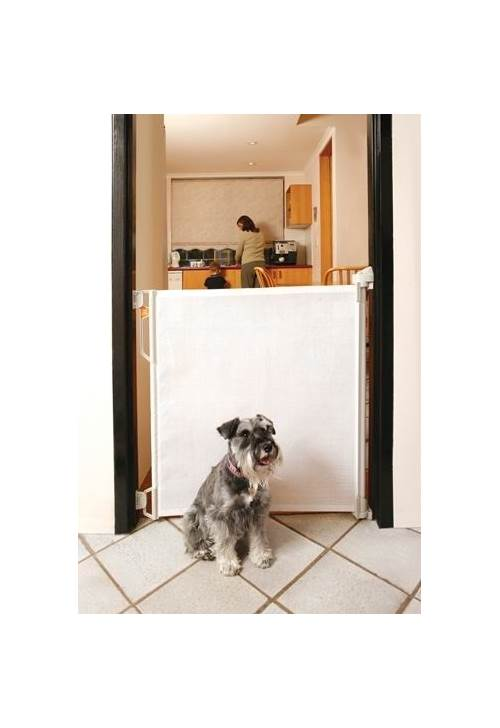 Tee Zed Products Retractable Gate In White