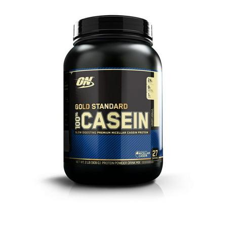 Optimum Nutrition Gold Standard 100% Casein Protein Powder, Vanilla, 24g Protein, 2