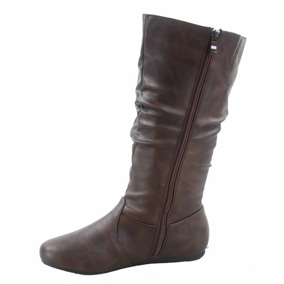 8fe5488115f8c Forever Link - Selina-24 Women s Faux Leather Causal Zipper Slouch ...