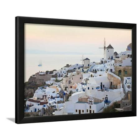 Village of Oia, Santorini (Thira), Cyclades Islands, Aegean Sea, Greek Islands, Greece, Europe Framed Print Wall Art By Gavin