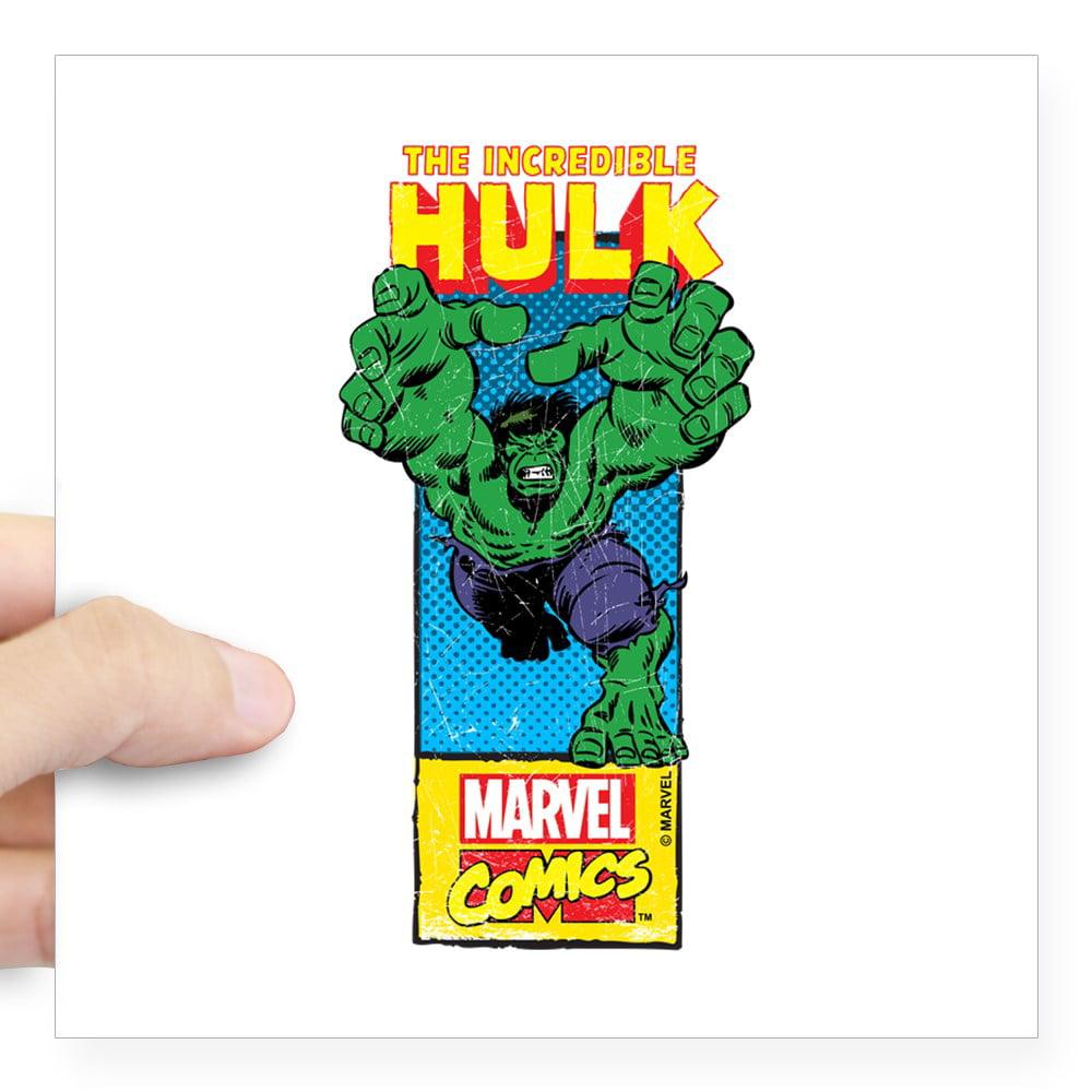 "CafePress - Hulk Mast Head Square Sticker 3"" X 3 - Square Sticker 3"" x 3"""