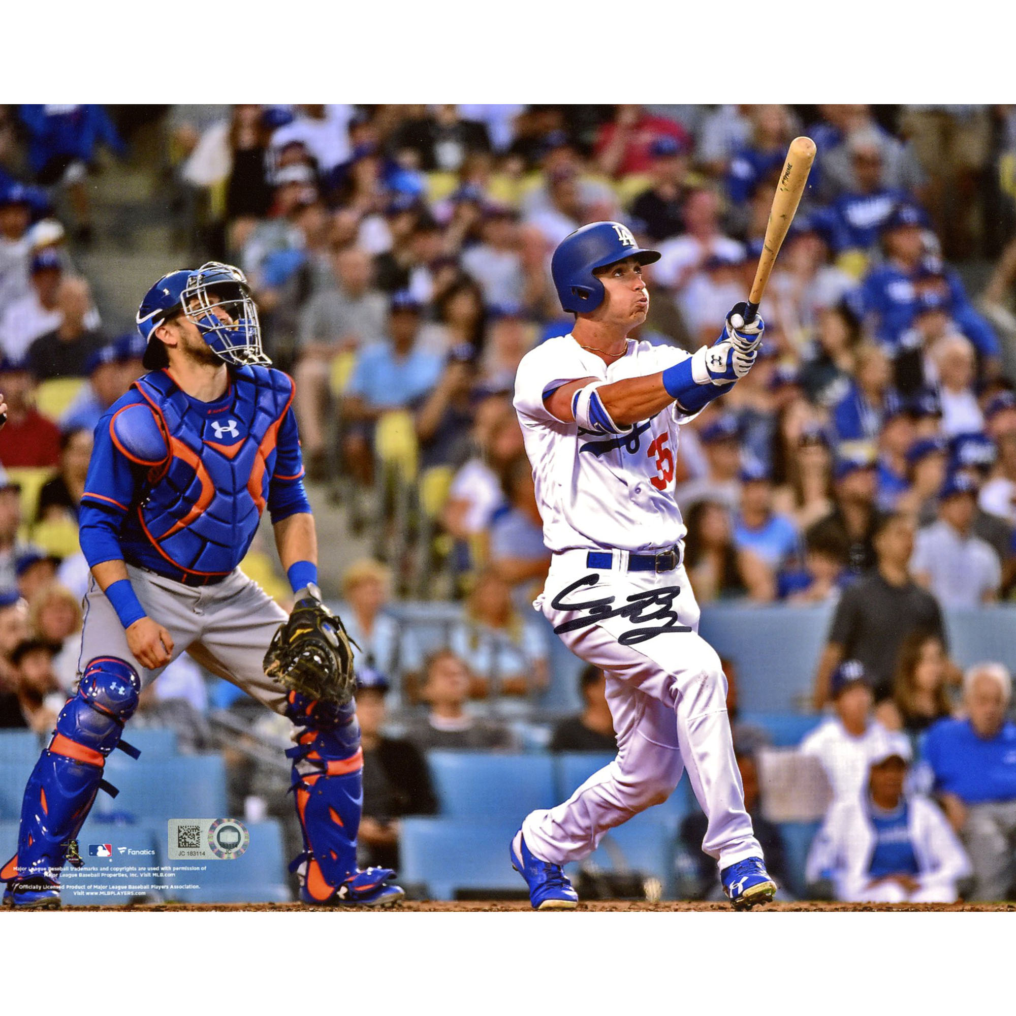"Cody Bellinger Los Angeles Dodgers Fanatics Authentic Autographed 8"" x 10"" Hitting Home Run Photograph - No Size"