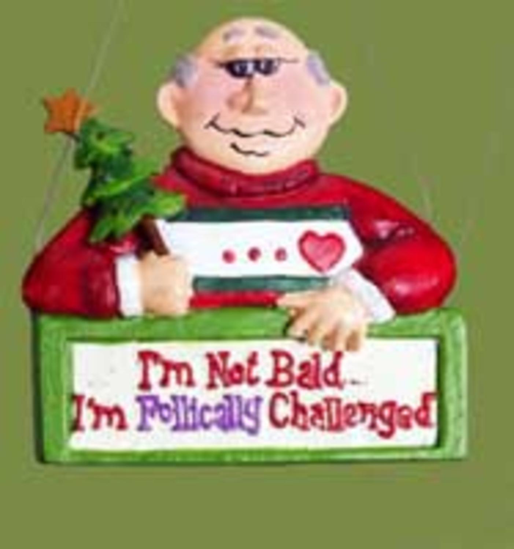 Funny Senior Moment Bald Man Christmas Ornament