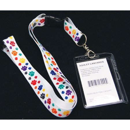 Manchester United Lanyard (Multicolor Paw Print Ribbon)