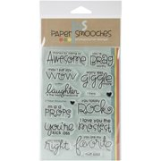 """Paper Smooches Clear Stamps 4""""x6"""" -uplifters"""