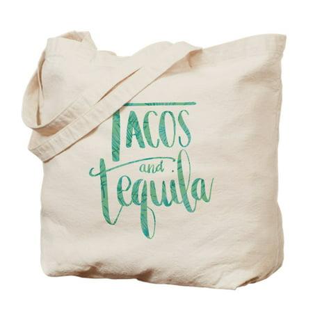 CafePress - Tacos And Tequila Print - Natural Canvas Tote Bag, Cloth Shopping Bag