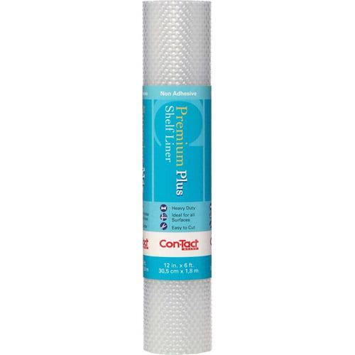 Con-Tact Brand Non-Adhesive Premium Plus Shelf Liner, Nova Crystal Clear