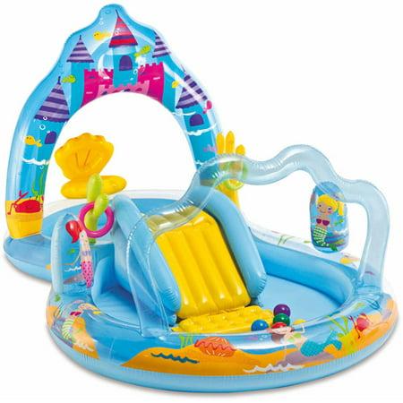 Intex inflatable mermaid kingdom play center with sprayer - Piscine intex 12 x 30 ...