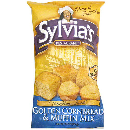 Sylvia's Restaurant Golden Cornbread & Muffin Mix, 8.5 oz (Pack of 12)