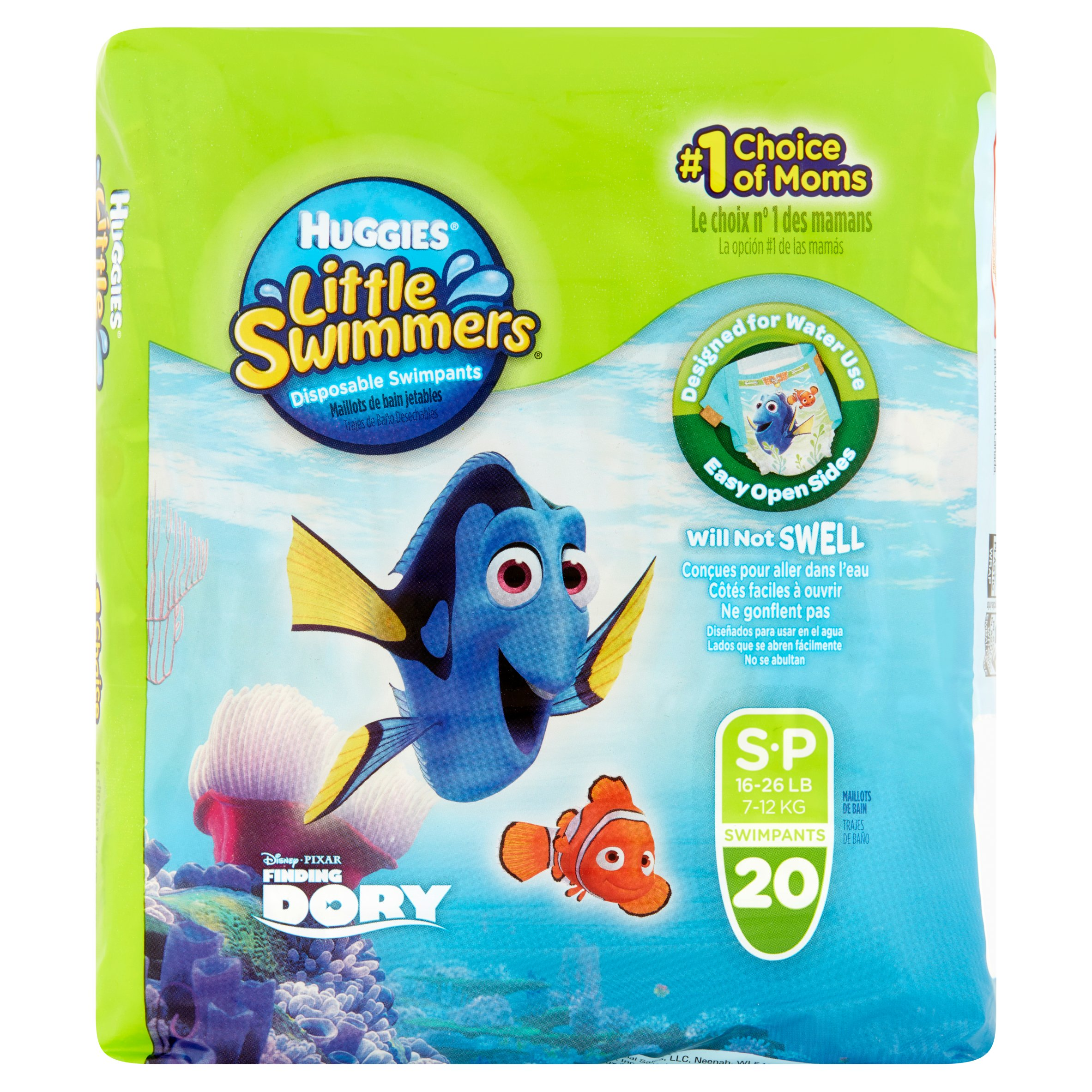 Huggies Little Swimmers Disposable Diaper Swimpants, Size Small, 20 Count