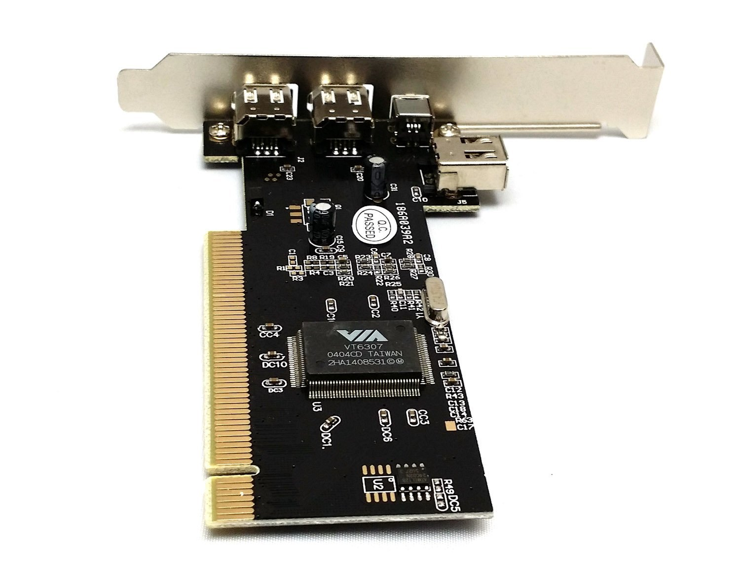 Via Chip Ports Firewire IEEE1394 ILink PCI Controller Card W// Free To 4pin Cable