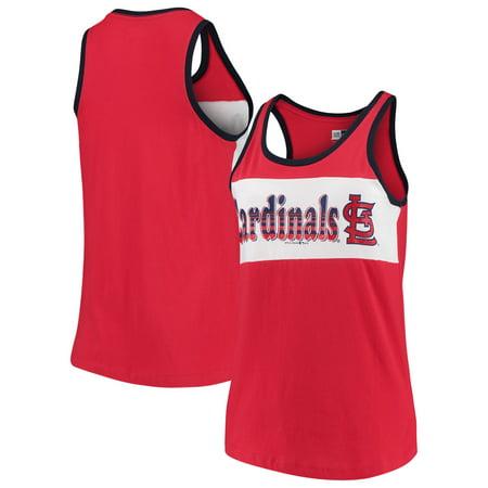 New Era Stock - St. Louis Cardinals New Era Women's Racerback Baby Jersey Tank Top - Red