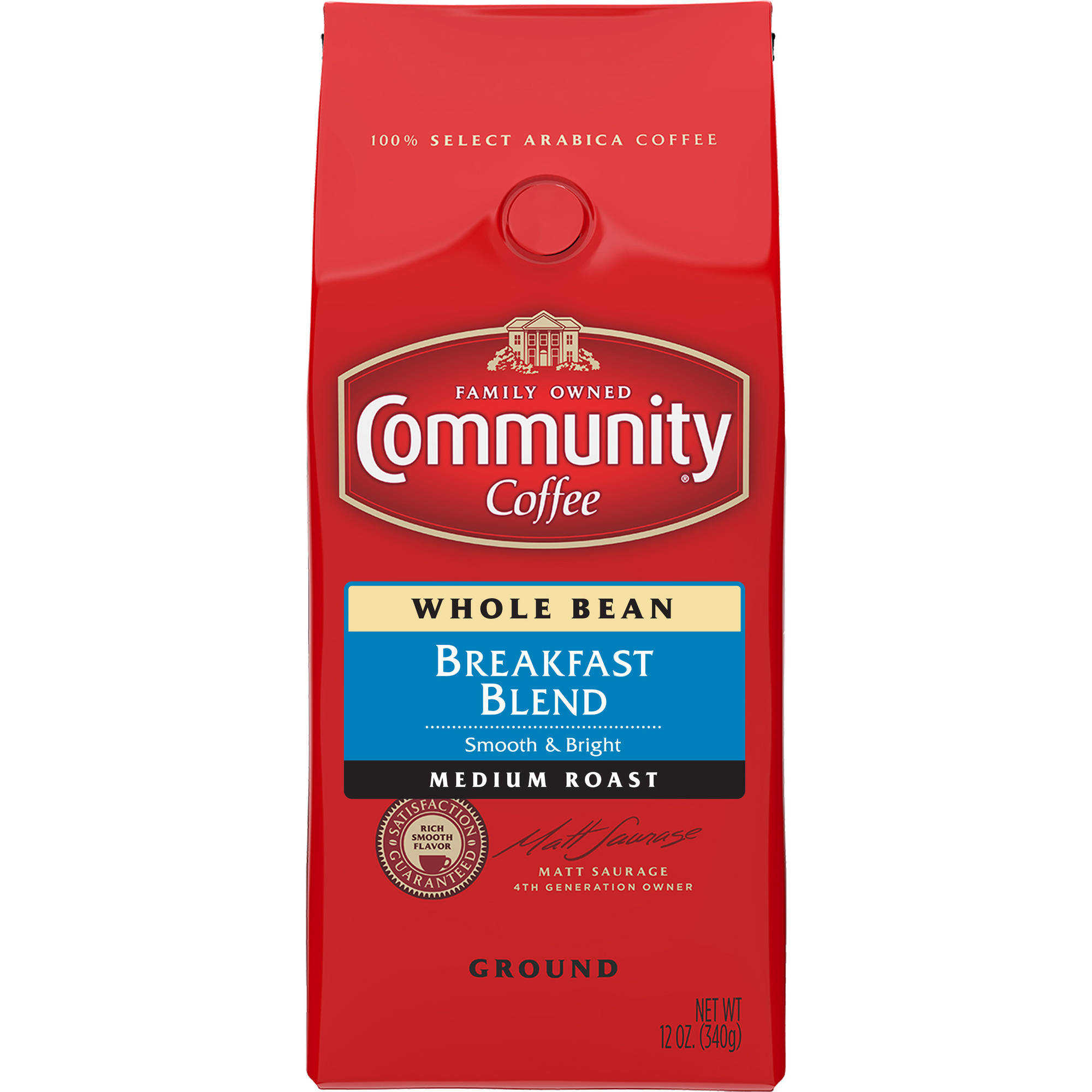 Community Breakfast Blend Whole Bean Coffee, 12 oz