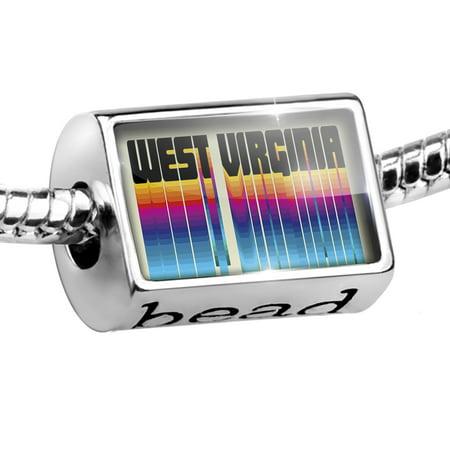 Bead Retro Cites States Countries West Virginia Charm Fits All European Bracelets