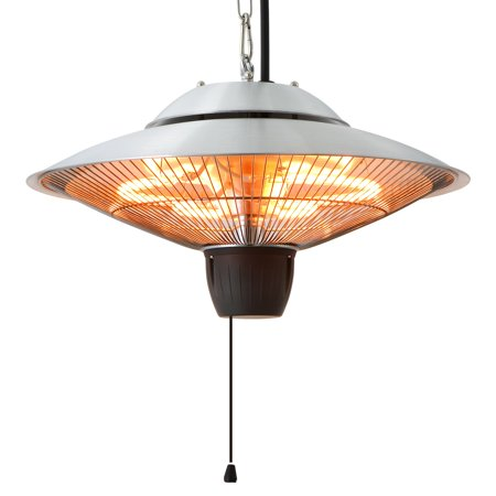 EnerG+ HEA-21524 Hanging Infrared Electric Heater, 1500W, Silver ()