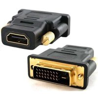 2 x DVI male to HDMI female adapter DVI-D dual link HDTV Monitor Display - New