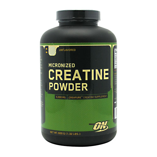 Optimum Nutrition Creapure Creatine Monohydrate Unflavored Strength Powder, 600G
